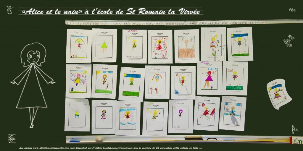 Carte alice et le nain école st romain la virvée